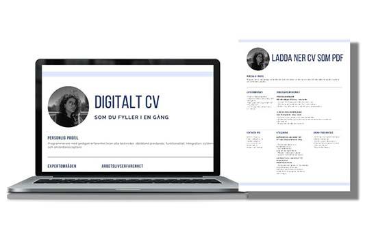 Digitalt CV som du fyller i en gång